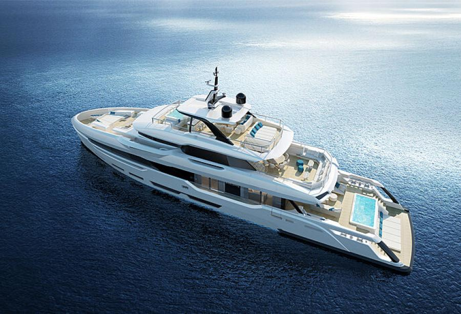 Baglietto's 40m yacht DOM 133 is in outfitting stage