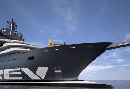 REV: The biggest explorer superyacht in the world taking shape in Romania