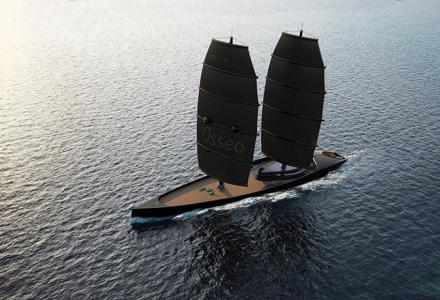 The Black Pearl code: 72m sailing yacht concept Osseo