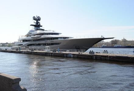 Billionaire's 95m superyacht Kismet spotted in Saint Petersburg