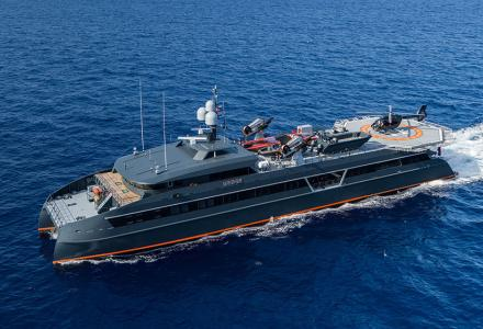 Brand new 66m support vessel Hodor for 87m Feadship Lonian