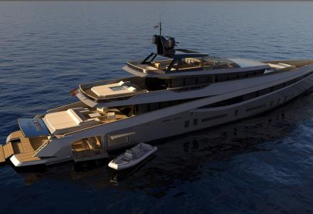 55m aluminium superyacht concept Soana introduced by Rodriguez Design
