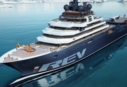 REV: the largest superyacht in the world ready for technical launch