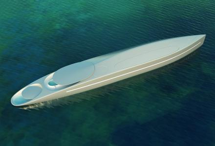 120m futuristic superyacht Project L by Thierry Gaugain