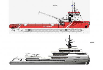 68m superyacht Project Ragnar in the final stage of 21-month-long conversion