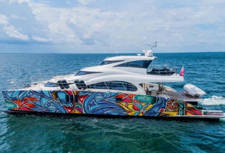 A work of art: 70 Sunreef Power yacht at Art Basel Miami