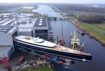 81m Sea Eagle II: Royal Huisman launches the world's largest aluminium schooner