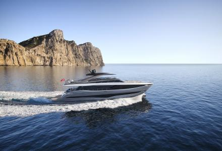 Inside the superyacht Princess Y95