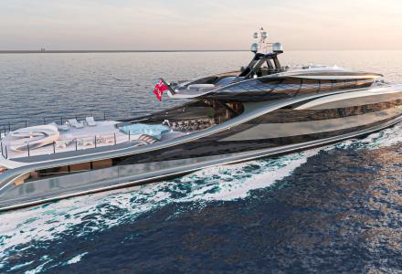 Vripack showcases new 66m fossil-fuel-free Superyacht Concept Futura
