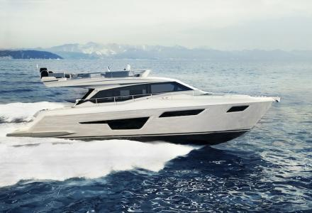 Ferretti Yachts 500 showcases new design solutions and two interior moods