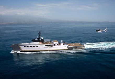 New 55m support yacht Blue Ocean ready for delivery