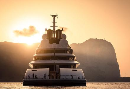 Spotted: The Longest Yacht in the World, Lürssen's 180m Superyacht Azzam in Gibraltar
