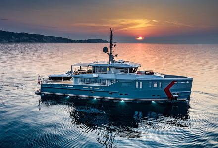 New delivery: CPN's  37m explorer yacht K-584