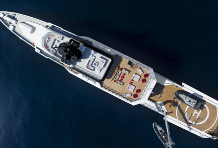 Bold, the 85-metre superyacht by the Australian manufacturer