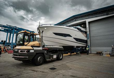 Sunseeker 90 Ocean's preparation for launch