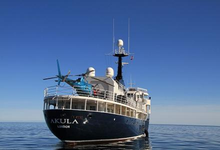 59-meter converted Amels explorer yacht Akula was sold