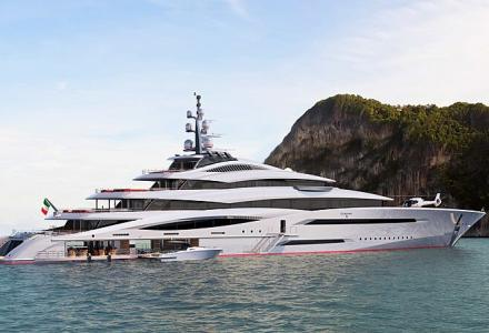 The launch of a 110-metre superyacht concept Project Century X