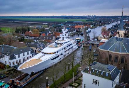 Feadship's Boardwalk on Her Way to Sea Trial