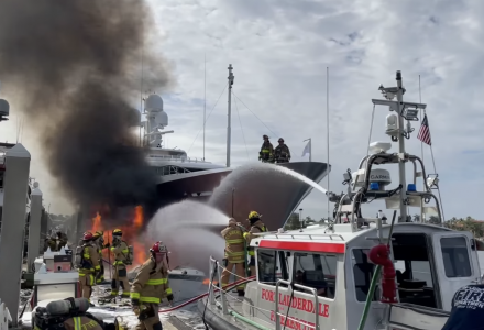Feadship Yacht W Damaged in Fire