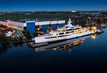 Feadship's 94m Project 817 Starts Her Journey To the North Sea
