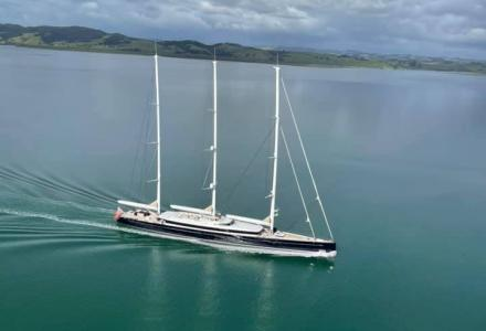 The 81m Sailing Yacht Sea Eagle II Has Stopped the Whangārei Airport Runway