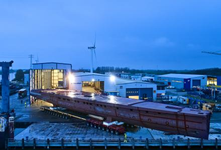 Updates On Heesen's Project Sparta: Hull Has Been Turned