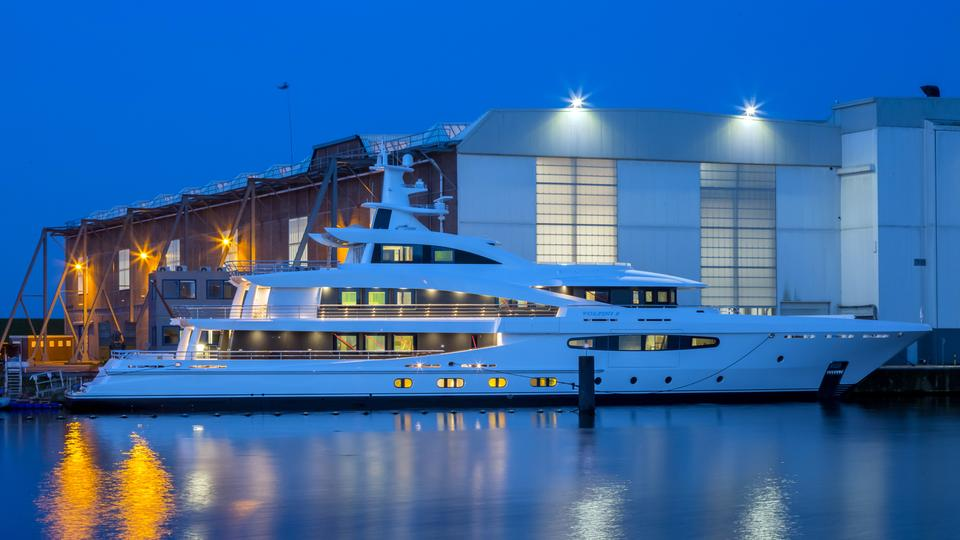 57 Metre Amels 188 Yacht Volpini 2 Launched By Amels